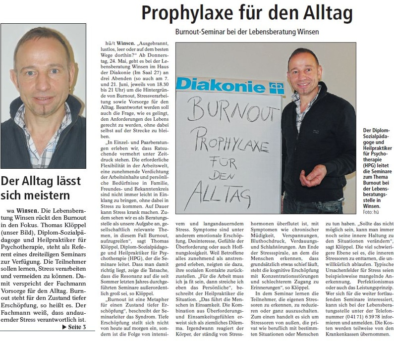 Angebot Burnout-Seminar